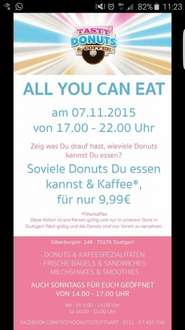 [Lokal Stuttgart] 9,99€ All you can eat Donut am 7.11.