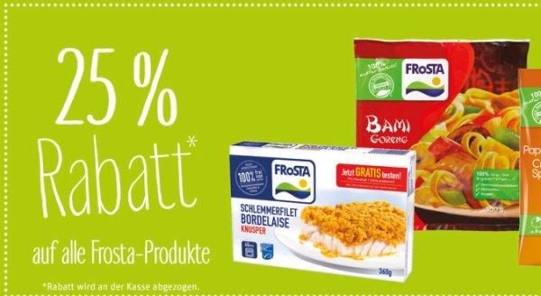 Alle Frosta-Produkte mit 25% Rabatt @REWE bundesweit