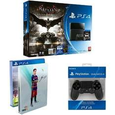(Amazon.fr) Playstation 4 - 500 GB + Fifa 16 + Batman + 2. Controller für 404,16 inkl. Versand