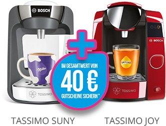 Tassimo Maschine kaufen, fast im Warenwert Gutschein direkt für Tassimo Shop sichern!