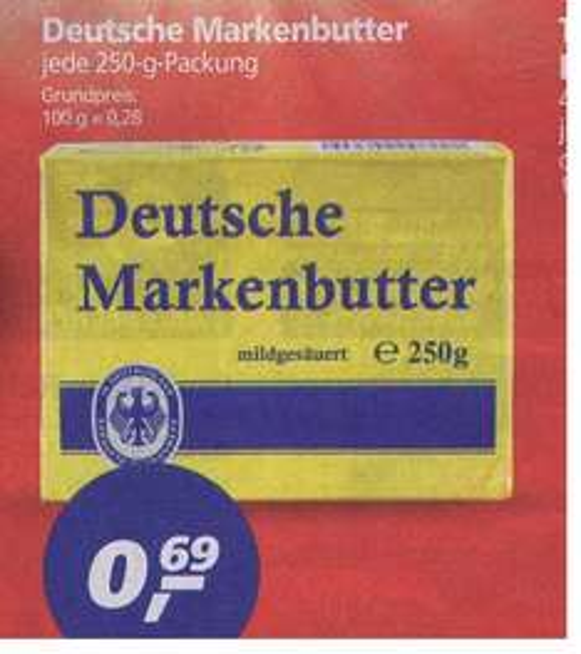(Real) Deutsche Markenbutter für 0,69€