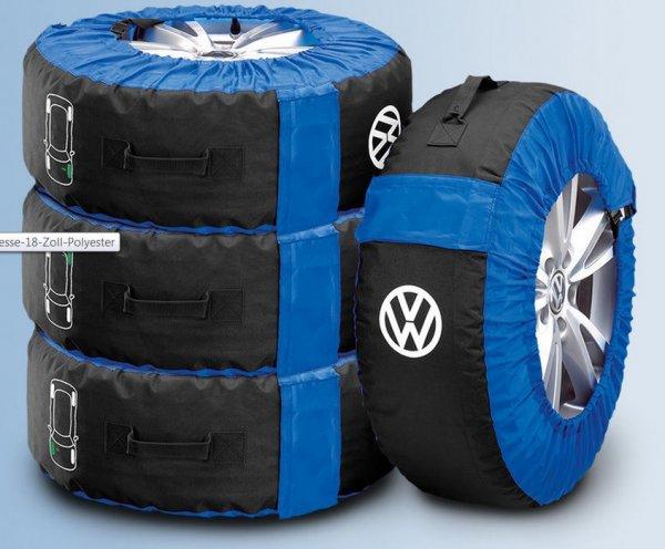 EBAY Volkswagen Original Reifentaschen-Set, 4-teilig, bis 18 Zoll, Polyester