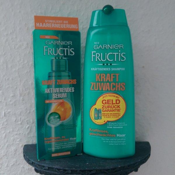 [GzG] Garnier Fructis Kraft Zuwachs Shampoo & Aktivierendes Serum gratis testen mit Geld-zurück-Garantie bei Unzufriedenheit