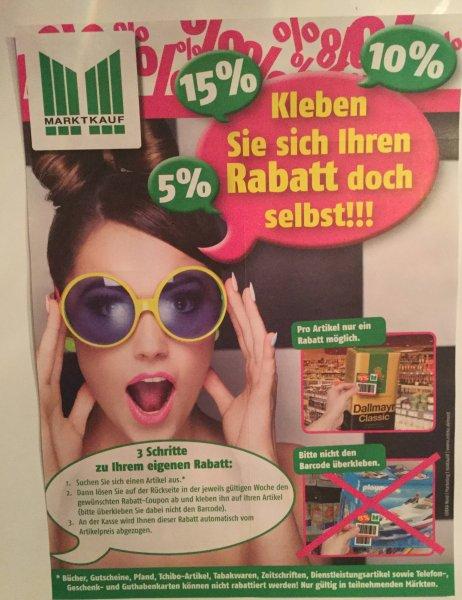 ( Marktkauf KW 42+43 ) Rabattaufkleber 5-15% im Flyer ab 12.10