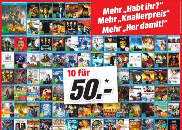 [Media Markt Oldenburg] 10 Blu Rays für 50€ ! Nur Sonntag den 11.10.2015