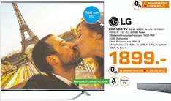 [Saturn Oldenburg] LG 65UF8009 - 65 Zoll, UHD 4K - 1.899 €