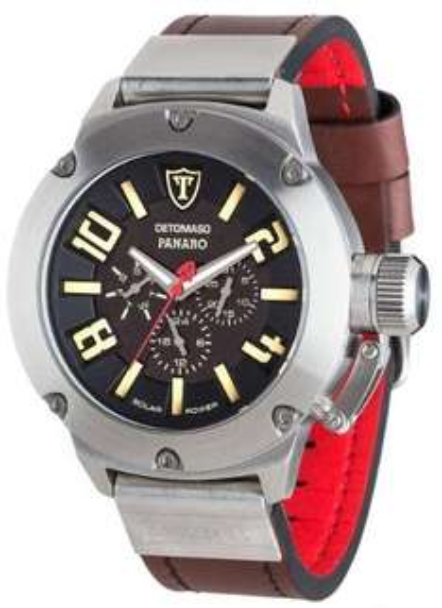 [allyouneed.com] Detomaso Panaro DT1054-A Herren Solar-Uhr (Markenuhrwerk von Seiko) mit Lederarmband für 72,29€ incl.Versand!