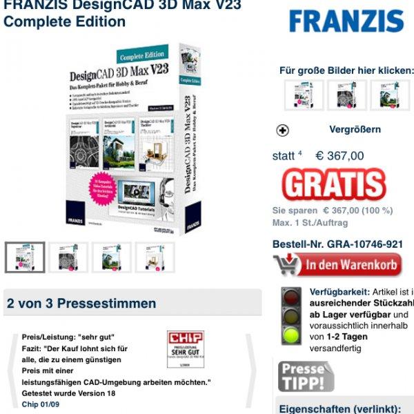 pearl.de//FRANZIS DesignCAD 3D Max V23 Complete Edition