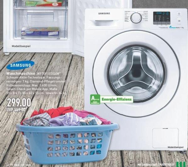 [Marktkauf evtl. nur regional Münster] Samsung Waschmaschine 7kg, A+++, 1400 U/Min für 299€