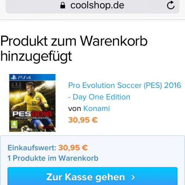 PES 2016 (PS4) für 30,95€ @coolshop.de