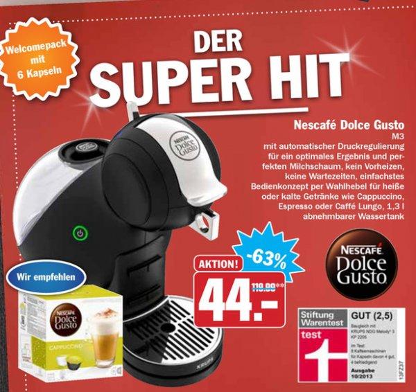 [HIT] Nescafé Dolce Gusto Melody 3 für 44,00€ (Idealo: 79,92€)