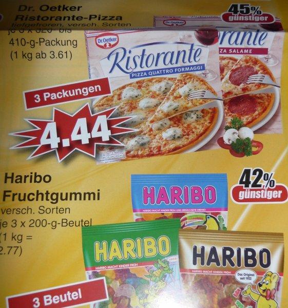 (Lokal Alzenau) Edeka 3 x Haribo für 1,66 E (Beutel 0,56€) oder 3 Ristorante für 4,44€ (pro Pizza 1,48€)