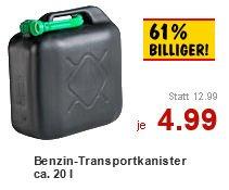 [Kaufland bundesweit?] 20 Liter Benzinkanister für 4,99 Euro