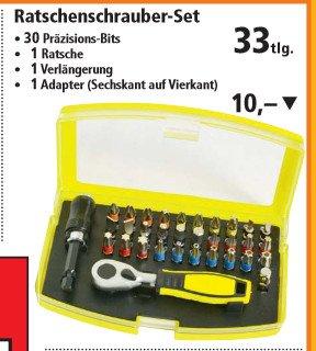 [Thomas Philipps] Ratschenschrauber-Set inkl. 30 Bits für 10€