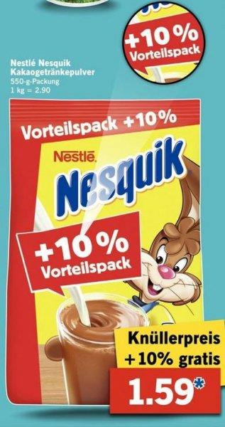 [Lidl] Nesquik Kakao 550g für 1,59