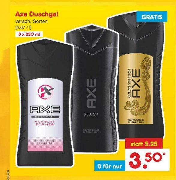 [Netto MD, bundesweit] 3x 250ml Axe Duschgel für zusammen 3,50€