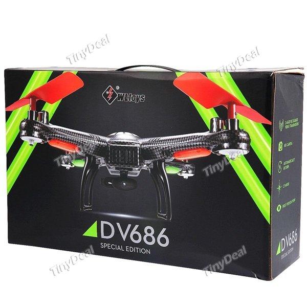 2 Modelle WLtoys V686G oder V686 4CH 360° Flip 5.8GHz 2MP HD LED RC Quadcopter Drohne mit Video Transmitter VERSAND AUS DE @Tinydeal
