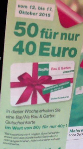 (Regional) BayWa Fürth 50€ Gutschein für 40€