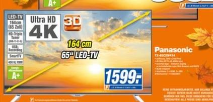 Expert Lokal Bonn: Panasonic TX-65CXW414 4k 3d Smart TV (NOCH HEUTE GÜLTIG)