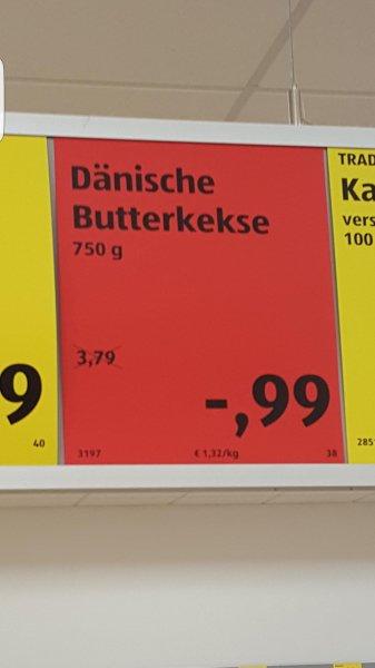 Aldi Bonn-Beuel: Dänische Butterkekse (750g Blechdose) 0,99 statt 3,79 Euro