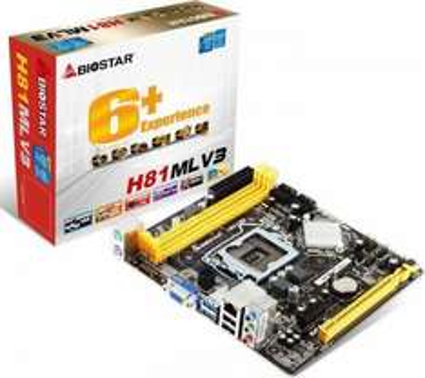 Biostar H81MLV3 Sockel 1150 Mainboard für 38,50 @ computeruniverse