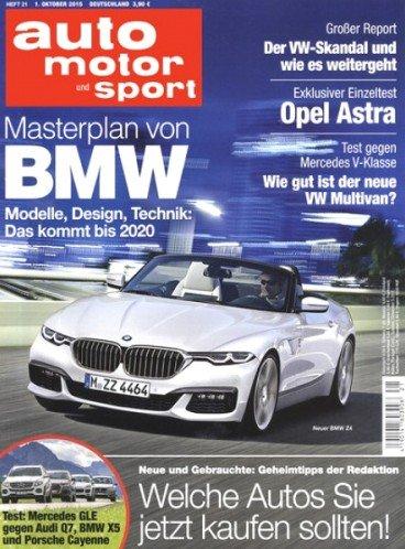 """Jahresabo der Zeitschrift """"auto motor und sport"""" für 102,90€ mit 80,00€ BestChoice Premium (inkl. Amazon) oder 75,00€ Bargeldprämie"""