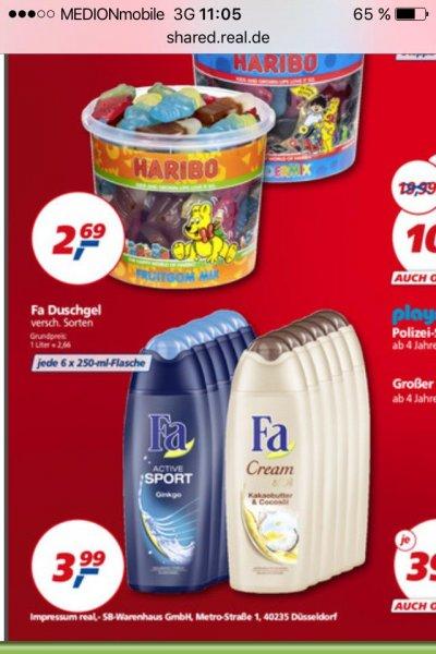 [Bundesweit] REAL 6er Pack FA Duschgel versch. Sorten für nur 3,99 EUR bis 17.10.2015