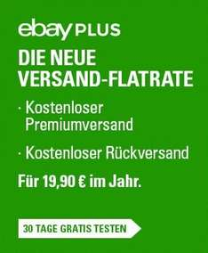 Ebay Plus 30 Tage kostenlos testen