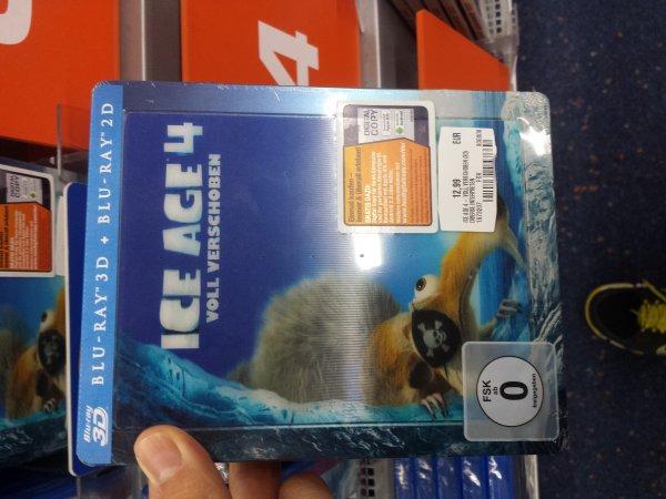 (Saturn Erfurt) Ice Age 4 Voll Verschoben Steelbook 2D/3D Bluray für 12,99