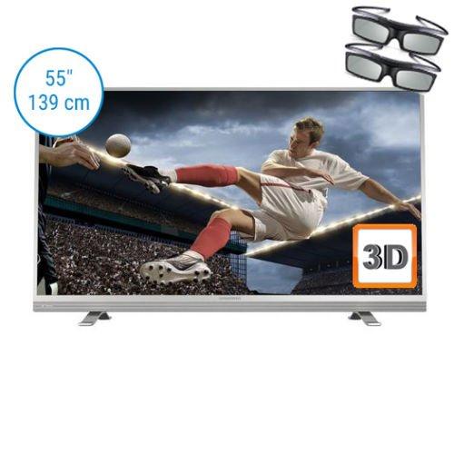 [ebay/NBB] Grundig 55 VLE 8570 silber/weiß 140 cm (55 Zoll) Fernseher (Full HD, Triple Tuner, 3D, Smart TV)