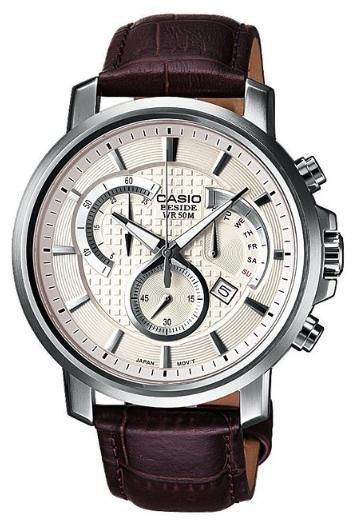 [Amazon Spanien] Casio Collection BEM-506L-7AVEF Herren Edelstahl-Chronograph mit Lederarmband in zwei Varianten für ca.70€ incl. Versand nach  Deutschland!