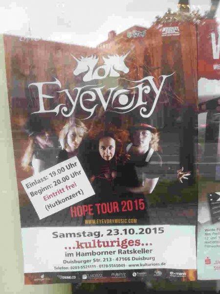 [Lokal Duisburg] 23.10.2015: Eyevory Konzert im Hamborner Ratskeller