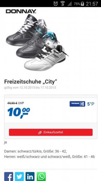 """Donnay Freizeitschuh """"City"""" Damen und Herren 10 € bei REAL"""