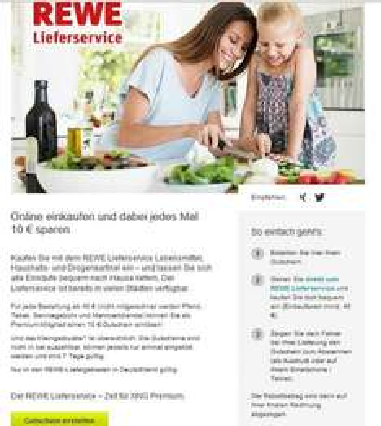 Xing Premium 3 Monate kostenlos testen -> jede Woche 10€ Rewe Lieferservice Gutschein generieren