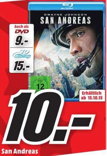 [Lokal FFM - Media Markt-Borsigallee] San Andreas Blu Ray =10,-€ / 3D Blu Ray = 15,-€