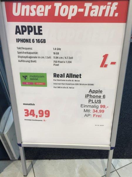 iPhone 6 mit md Real Allnet (Media Markt Stuttgart-Milaneo)