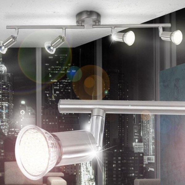 Ebay LED Decken Leuchte Spotsystem 4er LED-Strahler Lampe Spot Flur Bad Beleuchtung