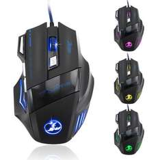 Malloom 5500 DPI 7 Buttons Wired LED Optical USB Computer Gaming Mouse @Aliexpress