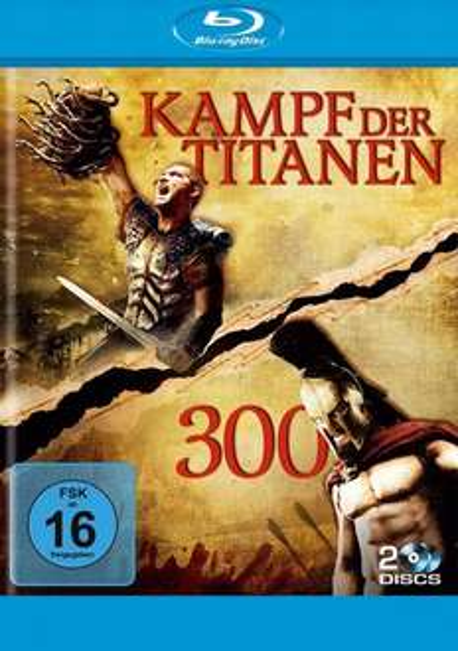 [Mediadealer] 300 & Kampf der Titanen (Blu-ray) für 7,94€ inc. Versand
