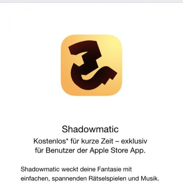Shadowmatic iOS über Apple Store App kostenlos