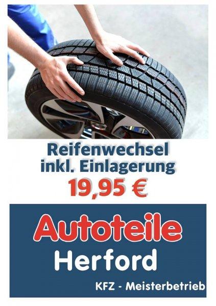 """Reifenwechsel inkl. Lagerung für 19,95 bei """"Autoteile Herford"""" lokal in Herford"""