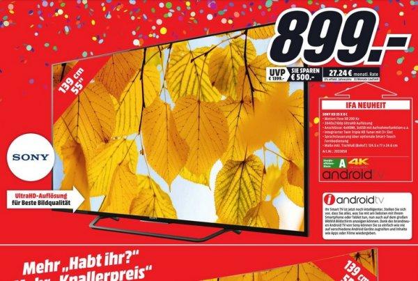 (Lokal) TV Angebote: SONY KD55X8005C für 899€ usw @ Mediamarkt Dortmund Oespel Indupark