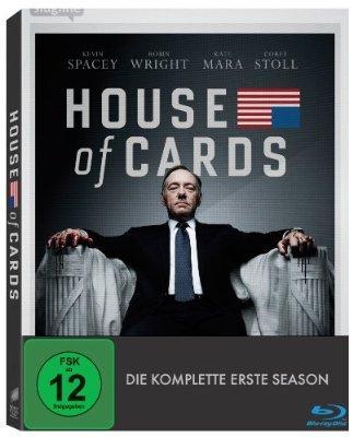 (Amazon.de)House of Cards - Season 1 (inkl. Digital Ultraviolet) [Blu-ray] für 12,99€ ( Ohne Prime 15,99€)