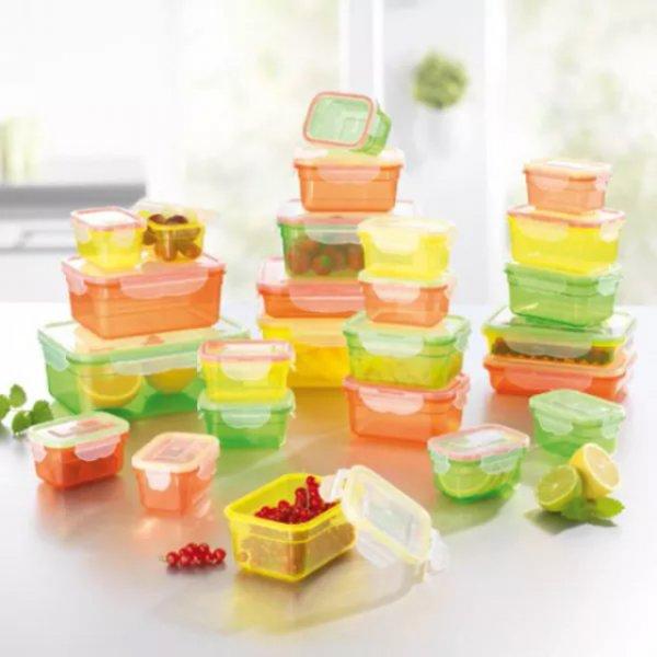 [ebay WOW] 25 Dosen - MaxxCuisine Frischhaltedosen Klick-It 50 Teile Sommerfarben