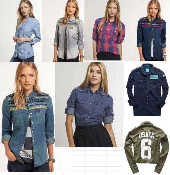 [ebay] Superdry Wochendeal tolle Damen Hemden und Jeanshemden mit 30% Couponcode zusätzlich  von 89€ UVP auf 17€