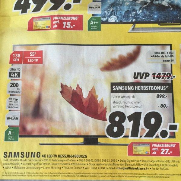 "[MEDIMAX evtl.Bundesweit] Samsung 4K 55"" TV - PVG 989€"