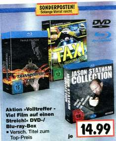 Kaufland - Jason Statham Collection, Transporter I-III, Taxi Quadrilogie - Bluray / DVD