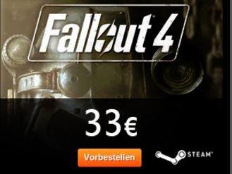 Fallout 4 Steamkey für 33 Euro