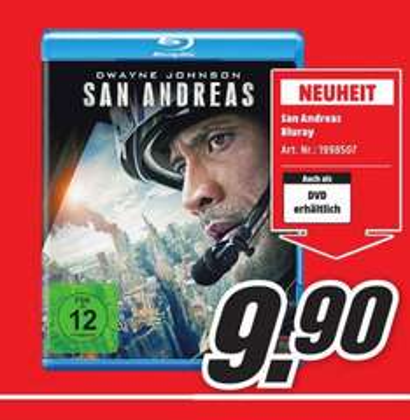 (Lokal) San Andreas Blu Ray für 9,90€ @ Mediamarkt Neuss