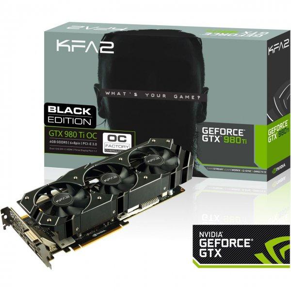 KFA2 GeForce GTX 980 Ti Black Edition 6144MB (RETAIL) für 556 @ MF